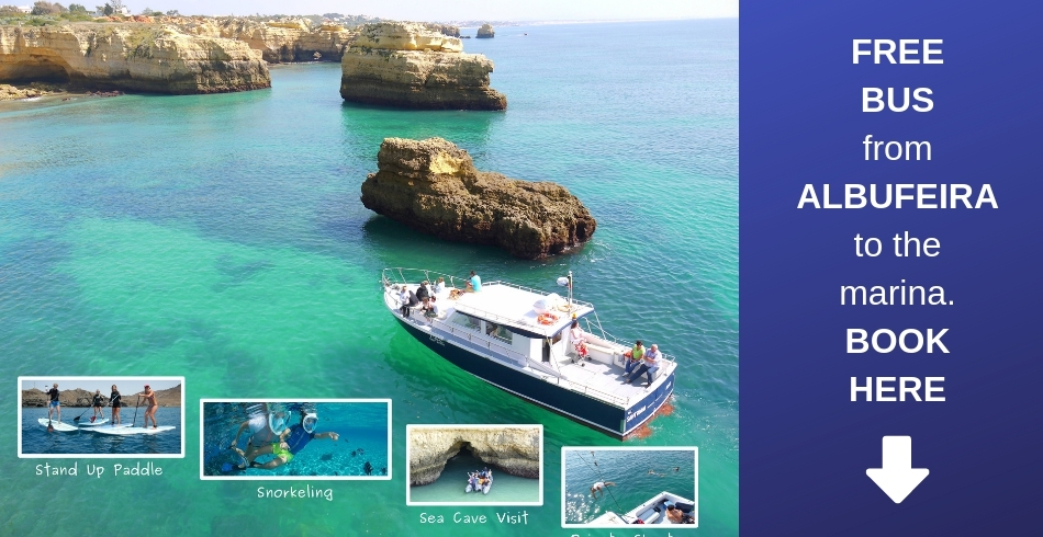 Albufeira Boat Trips - Free Bus when you book here