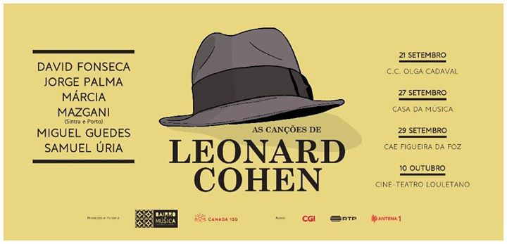 As Canções de Leonard Cohen - Cine-Teatro Louletano