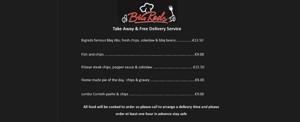 Big Red's Take Away & Free Delivery Service