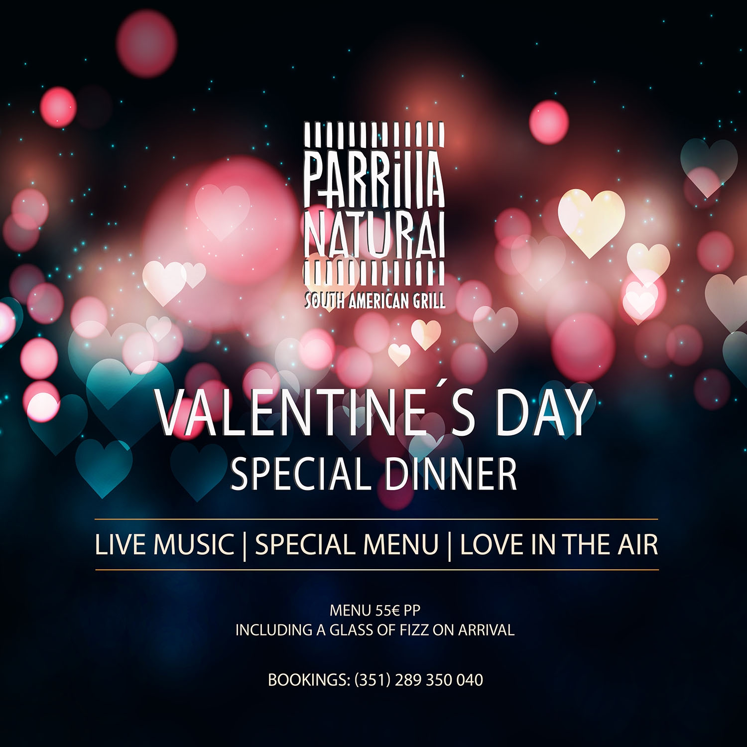 Celebrate Valentine's Day at Parrilla Natural