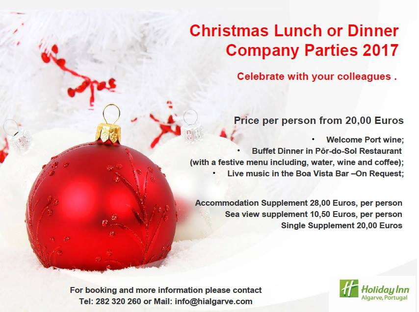 Christmas Parties at the Holiday Inn Algarve