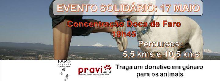 Corrida Solidária PRAVI - Evento nº 141 Faro, Pegadas à 4ª Feira
