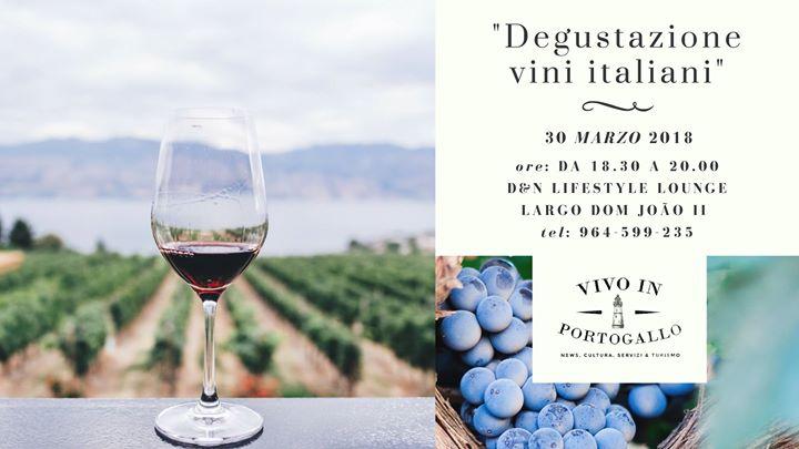 Degustazione vini italiani in Portimão
