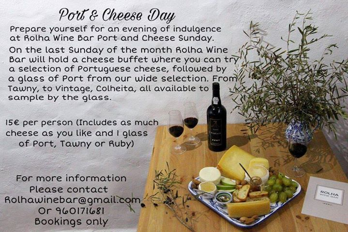 Dia do Queijo e vinho do Porto. Port and Cheese day
