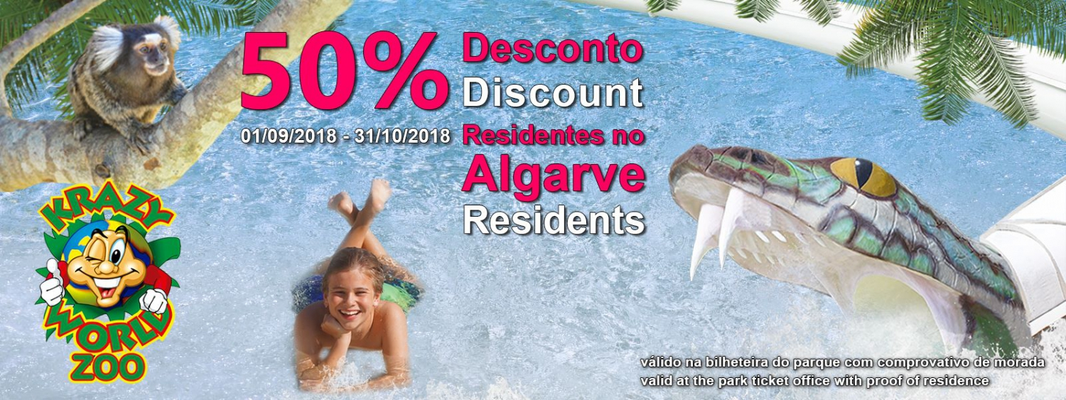 Discount for Algarve Residents at Krazy World Zoo