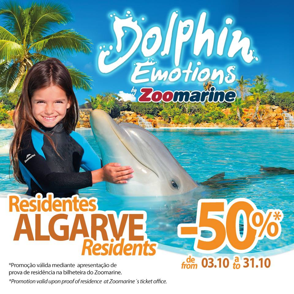 Dolphin Emotions at Zoomarine - Discount for Algarve Residents
