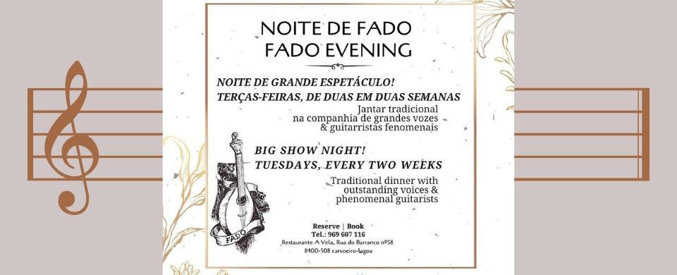Fado Night at A Vela Restaurant