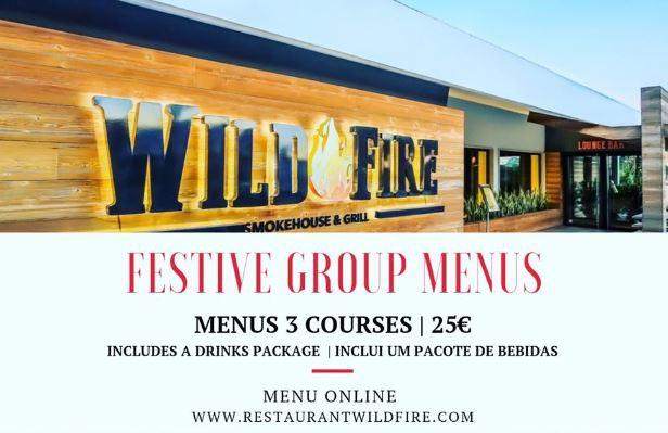 Festive Menu at Wild Fire