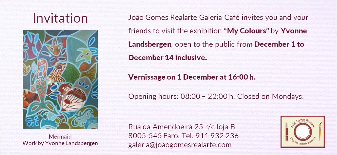 Fine Art Exhibition in João Gomes Realarte Galeria Café