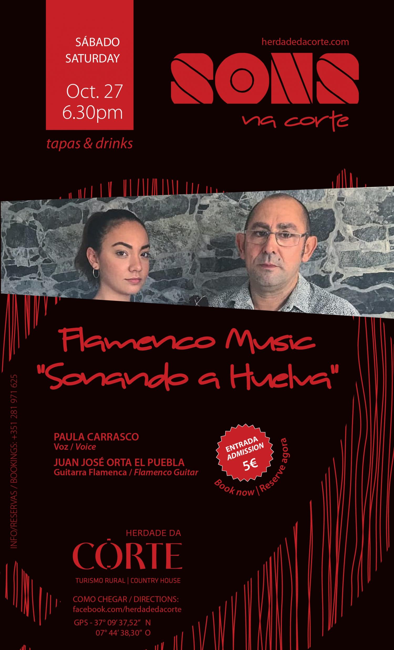 Flamenco evening  at Herdade da Corte with Sonando Huelva