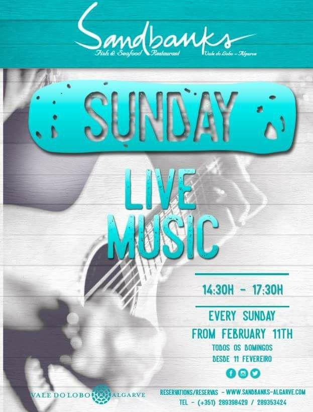 Live Music Sundays at Sandbanks