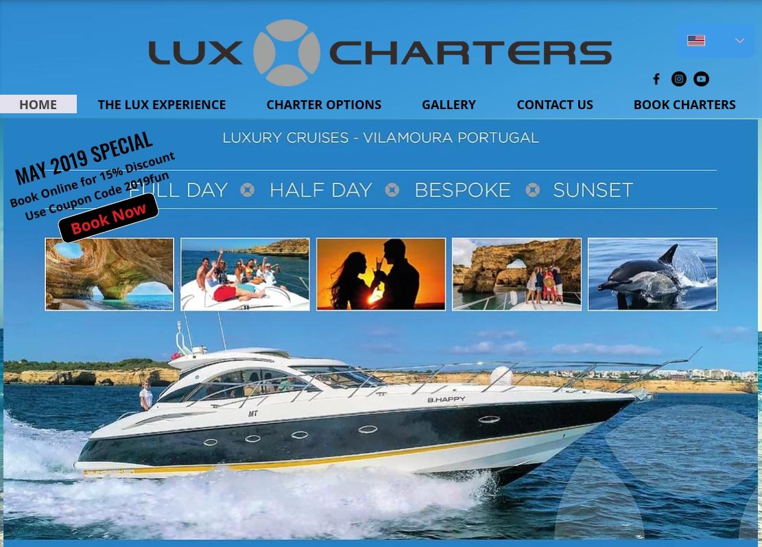 May Discount on LuxCharters Luxury Cruises