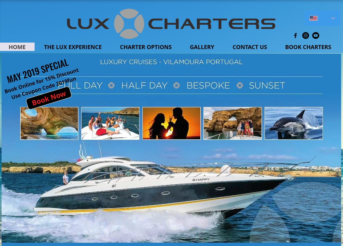 May Discount on Lux Charters Luxury Cruises
