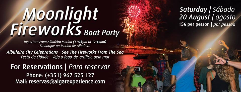 Moonlight Fireworks Boat Party