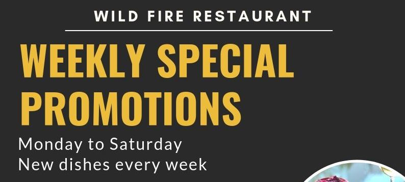 New Dishes Every Week at Wildfire