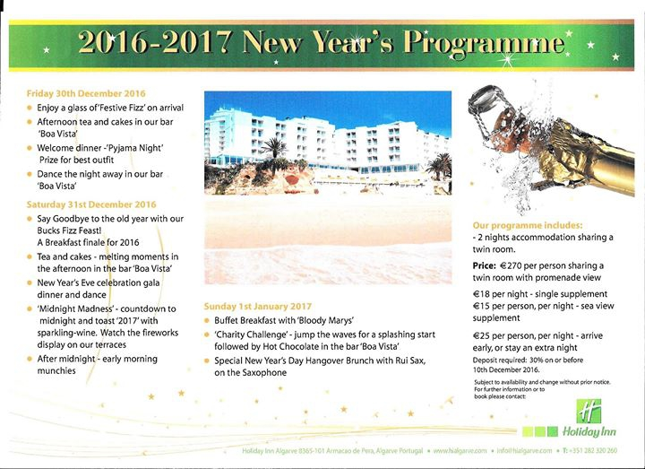 Our New Year's Eve Programme 2016-2017 Programa Réveillon