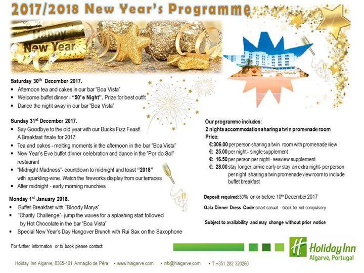 Our New Year's Eve Programme 2017-2018 Programa Réveillon
