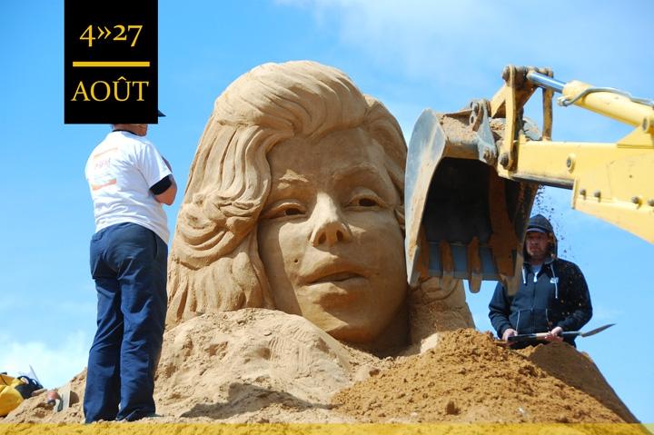 Sand sculpture live in FIESA!