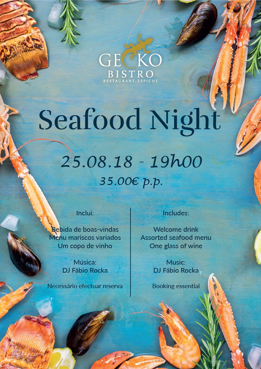 Seafood Night at Gecko Bistro