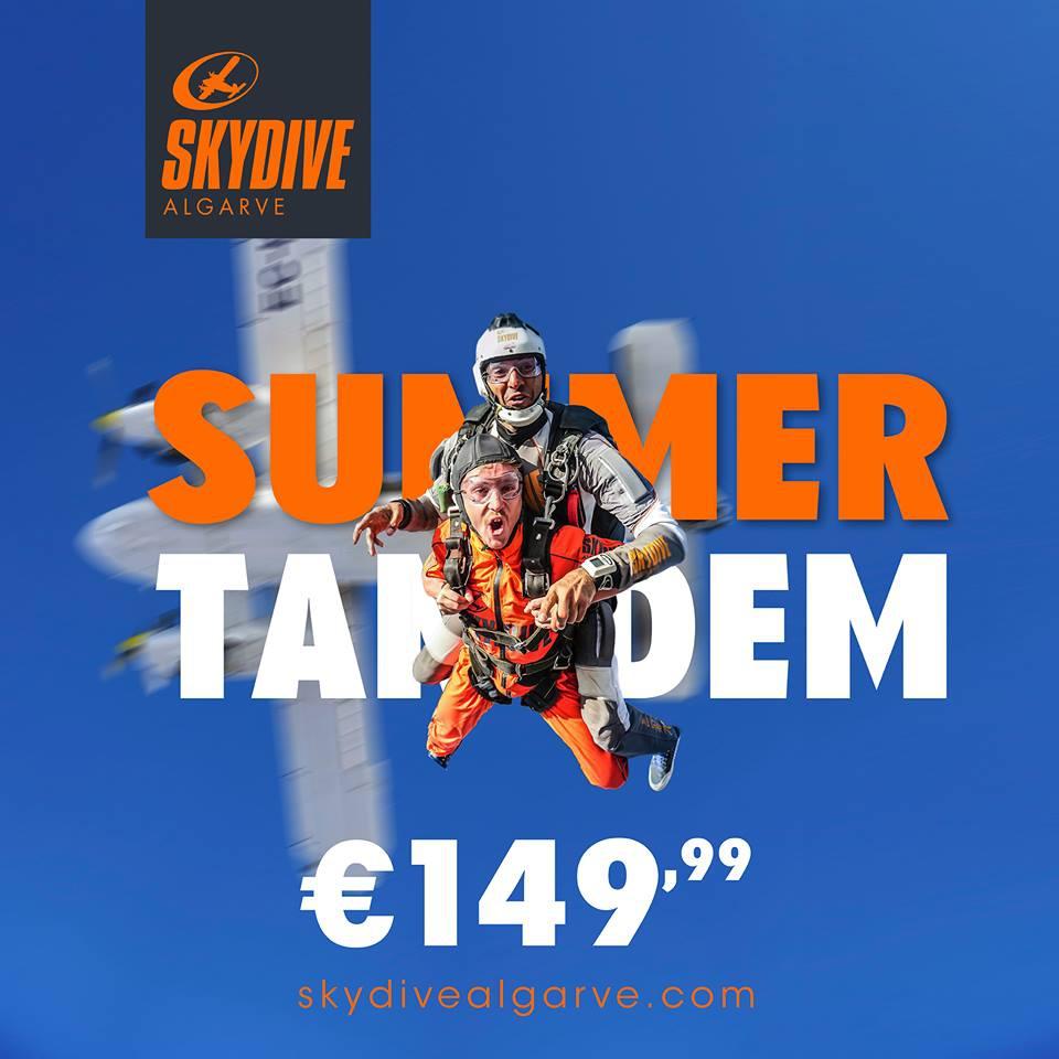 Skydive Algarve Summer Tandem Offer