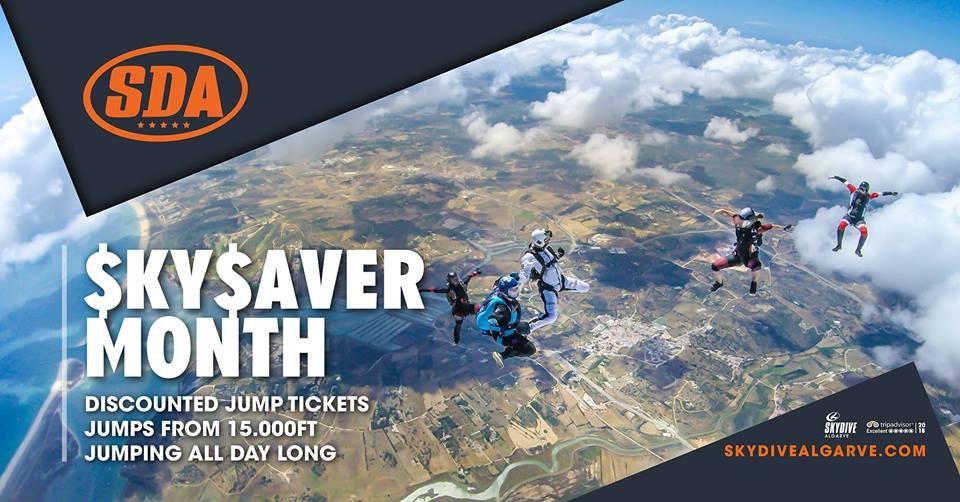 Skysaver Month at Skydive Algarve