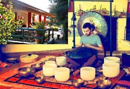 Sound journey & dinner in Monchique