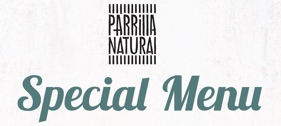 Special Set Dinner Menu at Parrilla Natural