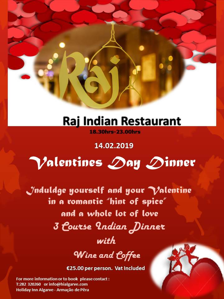 Spicy Valentine's Dinner at Holiday Inn Algarve