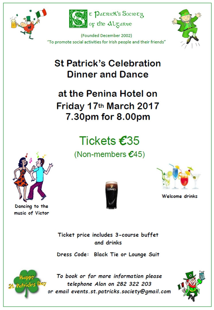 St Patricks Celebration Dinner & Dance