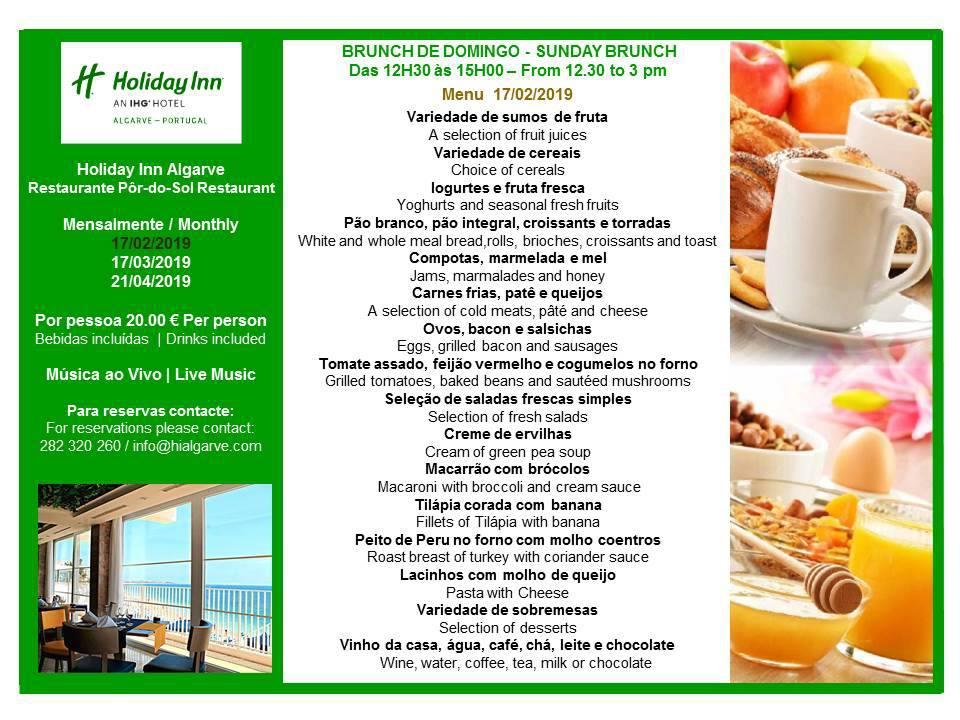 Sunday Brunch at Holiday Inn Algarve