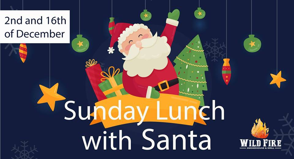 Sunday Lunch with Santa at Wild Fire