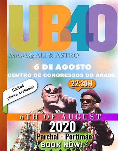 UB40 Concert - tickets and travel with PDM Travel