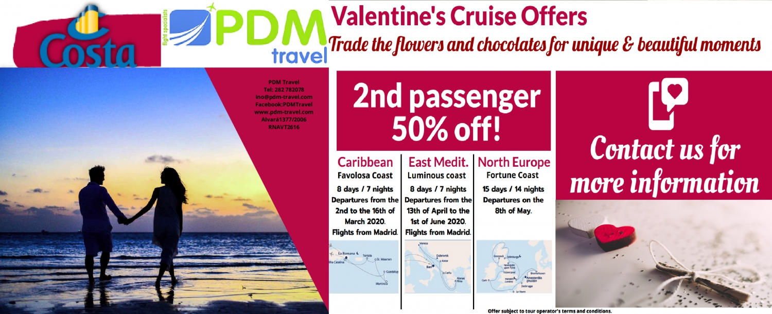 Valentine's Cruise Offer - PDM Travel
