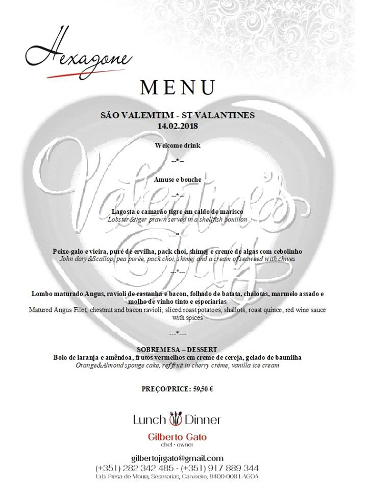 Valentine's Day at Restaurant Hexagone