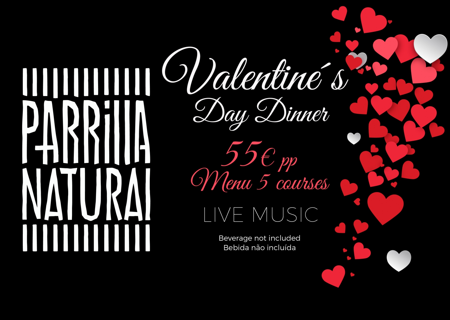 Valentine's Day Dinner at Parrilla Natural