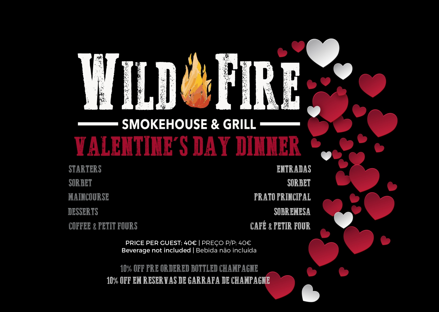 Valentine's Day Dinner at Wild Fire
