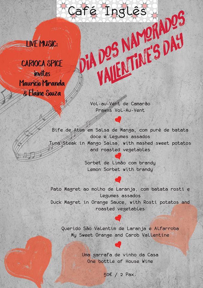 Valentine's Dinner & Music at Café Inglês