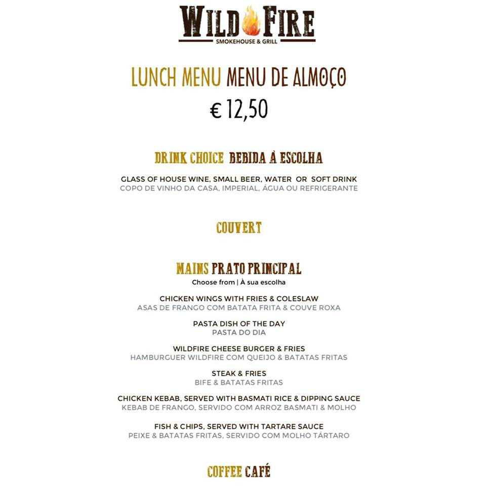 Wildfire Open for Lunch