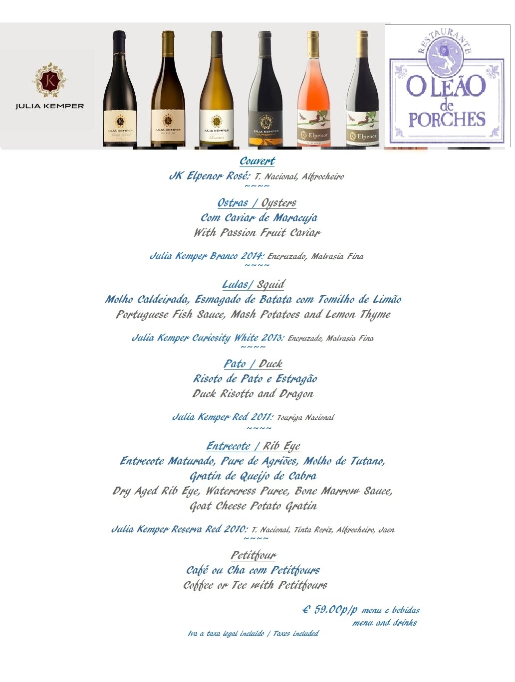 Wine Event at O Leão de Porches