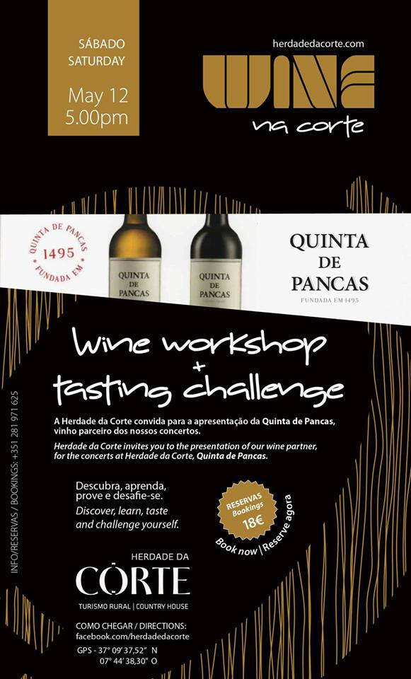 Wine workshop & Tasting challenge at Herdade da Corte