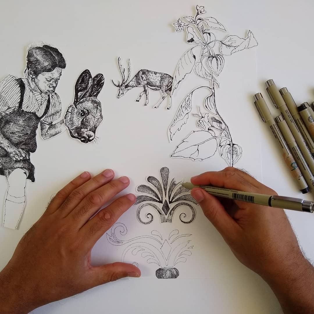 Workshop Collage and Illustration