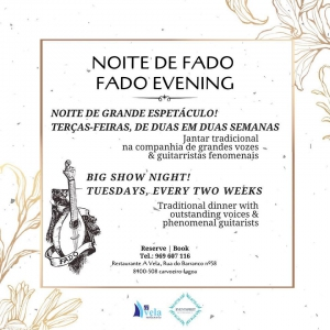 Fado Evenings at A Vela Restaurant