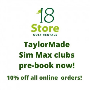 TaylorMade Sim Max Golf Clubs on 18 Store Golf Rentals