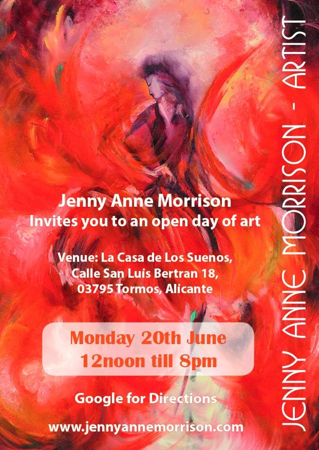 Artist Jenny Anne Morrison's Open Day in Tormos