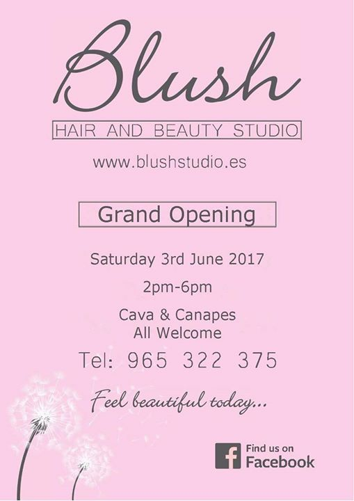 Blush Hair & Beauty Studio Grand Opening