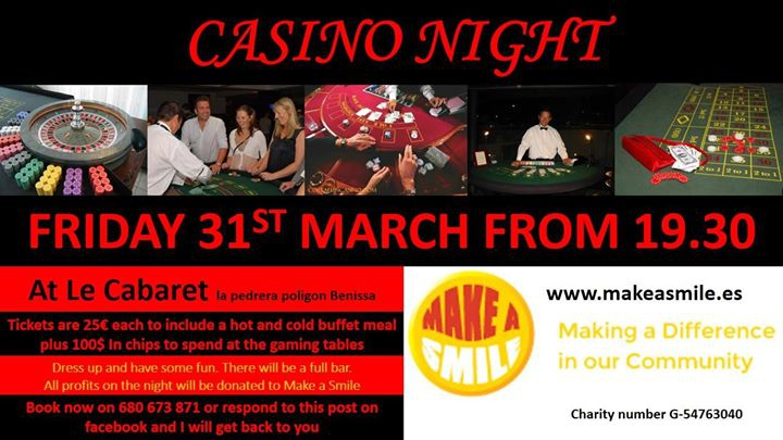 Casino Night for Make a Smile