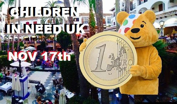 Children in Need UK in the Villamartin Plaza
