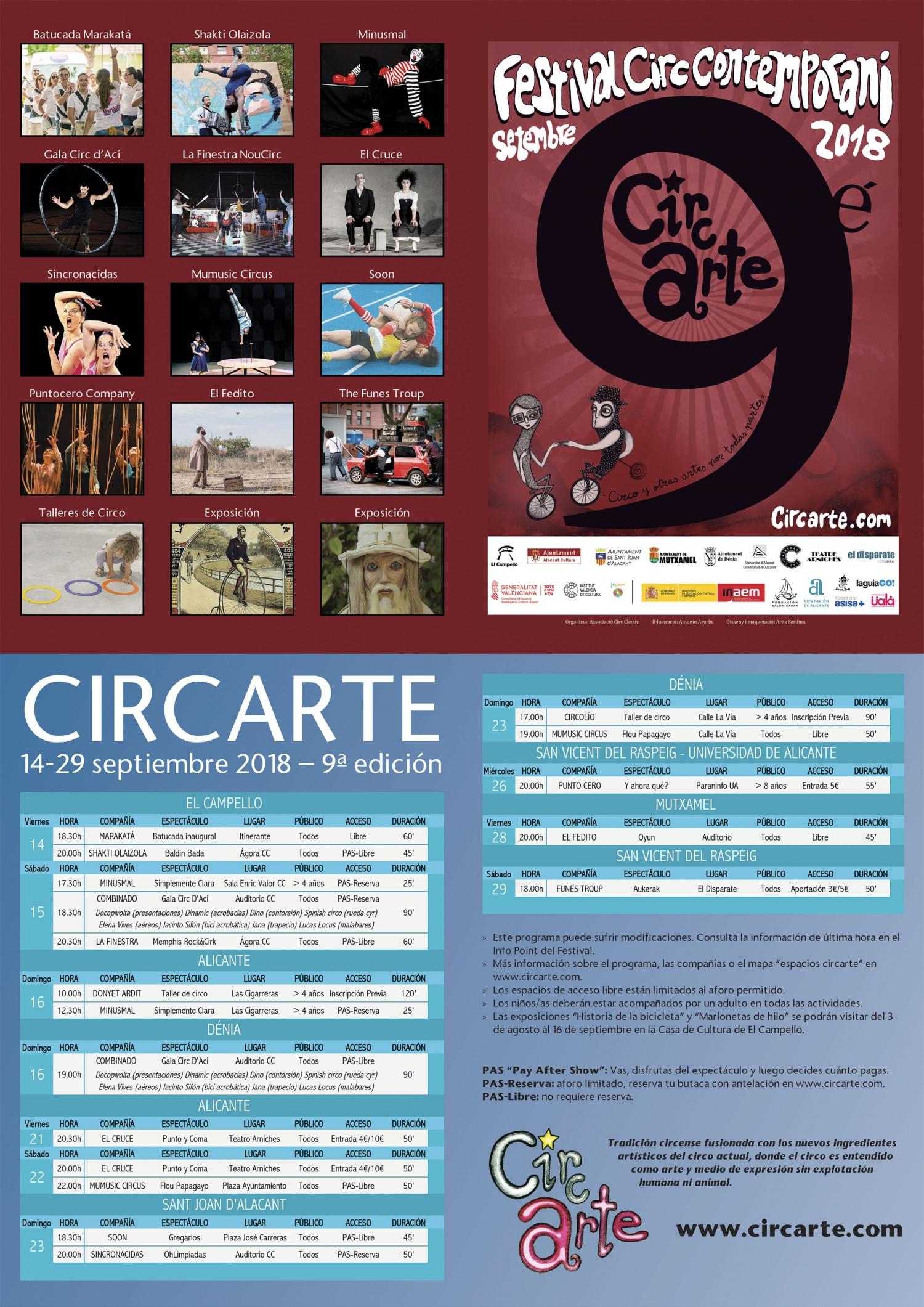 Circarte Contemporary Circus Festival in Alicante Province