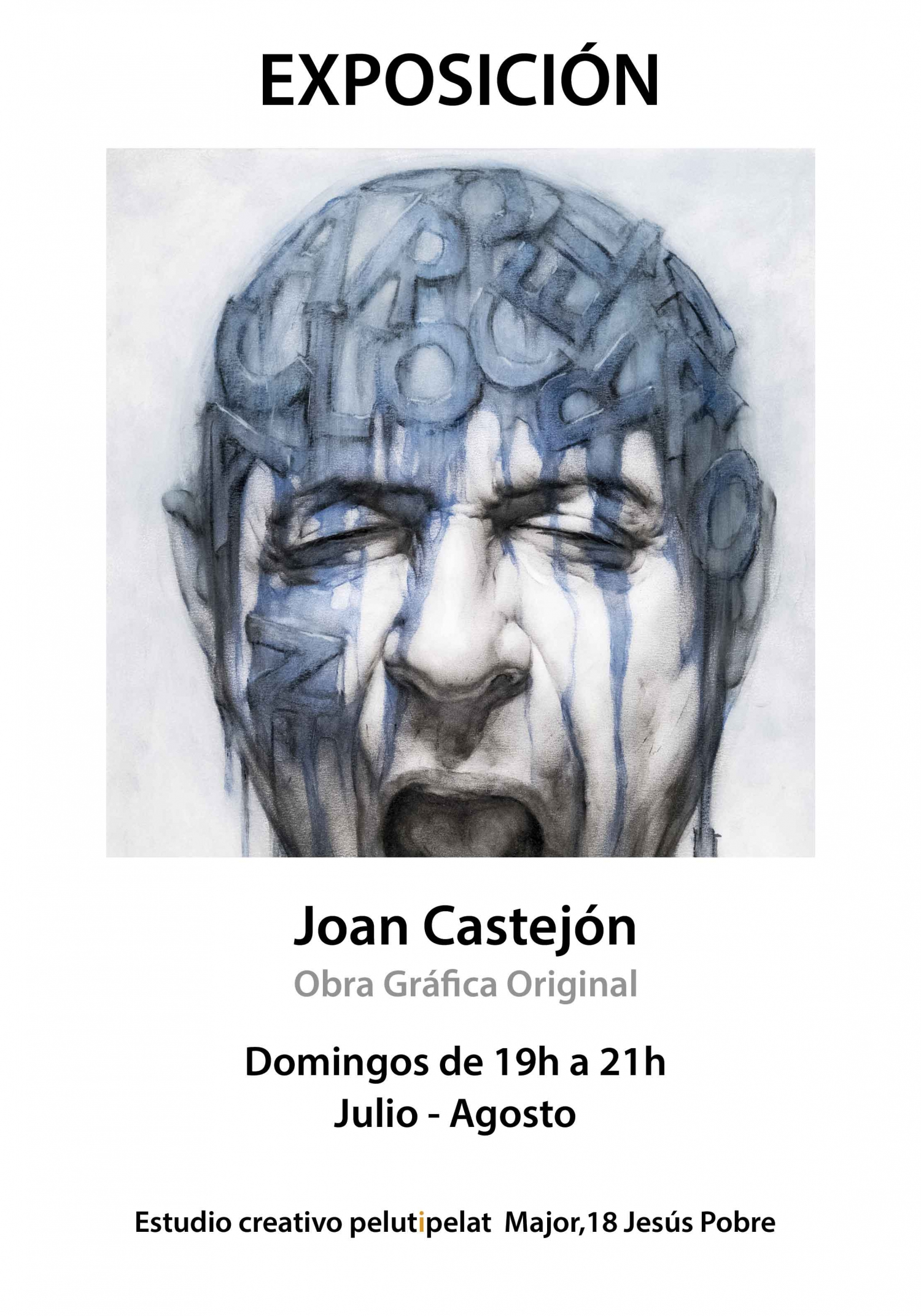 Exhibition of paintings by Joan Castejon in Jesus Pobre