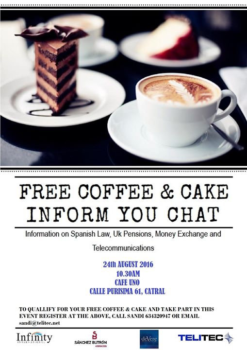Free Coffee & Cake Inform You Chat